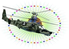 Hélicoptère militaire russe Images libres de droits