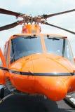 Hélicoptère orange Images libres de droits