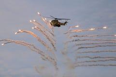 Hélicoptère roumain d'armée Photo stock