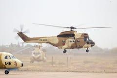 Hélicoptère royal de puma de l'Armée de l'Air SA330 du Maroc Photo stock