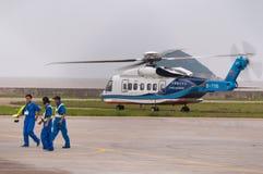 Hélicoptère S-76 Photo libre de droits