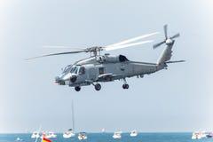 Hélicoptère SH-60B Seahawk Photographie stock libre de droits
