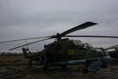 Hélicoptère soviétique abandonné Photo stock
