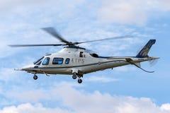 Hélicoptère ZE416 d'élite au pouvoir de Royal Air Force RAF AgustaWestland AW-109E de l'école ETP (Export Transfer Prices) de pil image stock