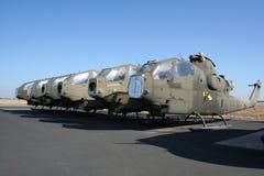 Hélicoptères de combat désuets Photo libre de droits