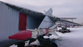 Hélicoptères de combat de la Russie sur les rues au musée de Monino photo stock