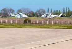 Hélicoptères de l'ONU Photographie stock libre de droits