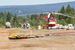 Hélicoptères de pompier Photo libre de droits