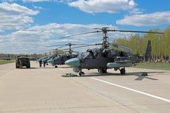 Hélicoptères Ka-52 Photographie stock libre de droits