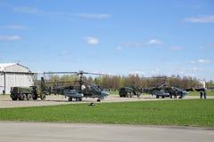 Hélicoptères Ka-52 Image libre de droits