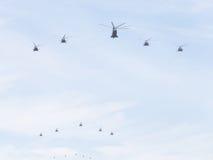 Hélicoptères, l'Armée de l'Air russe photo stock