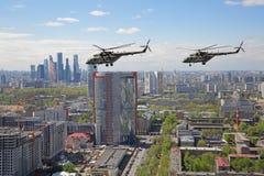 Hélicoptères Mi-8 Photo libre de droits