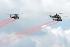Hélicoptères Mi-24 Image stock