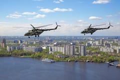 Hélicoptères Mi-8 Image libre de droits