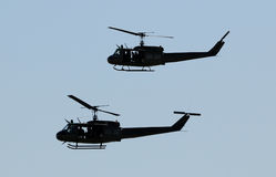 Hélicoptères militaires Image libre de droits