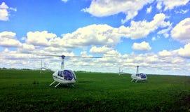 Hélicoptères Robinson Photo stock
