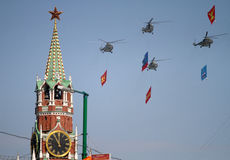 Hélicoptères russes d'armée Image libre de droits