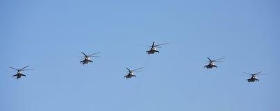 Hélicoptères russes de l'Armée de l'Air Image libre de droits