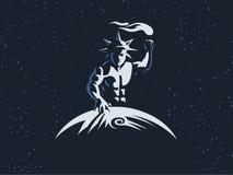 Hélios le dieu soleil avec une torche illustration stock