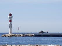 Héliport à Cannes, France Photographie stock libre de droits