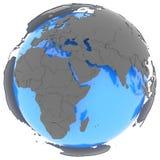 Hémisphère de l'ouest sur le globe Photos stock