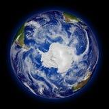 Hémisphère sud sur terre de planète Photographie stock libre de droits