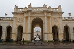 The Héré Arc on the Stanislas Place in Nancy. The Place Stanislas is a large pedestrianized square in the French city of Nancy, in the Lorraine region. The Stock Photos