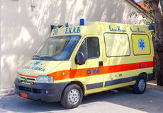 Héraklion Ambulance en Crète Photo stock