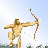 Hércules con el arqueamiento ilustración del vector
