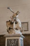 ` Hércules de la escultura y el ` de Nessus del centauro Imágenes de archivo libres de regalías