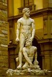 Hércules y Cacus - Florencia Foto de archivo