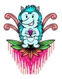 Hérisson avec Diamond Cartoon Photographie stock