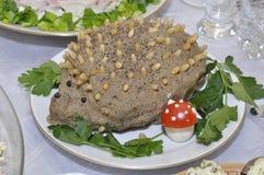 Hérisson de pâte hépatique Photo stock