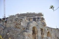 Héritage archéologique d'Acropole d'Athènes en Grèce image libre de droits