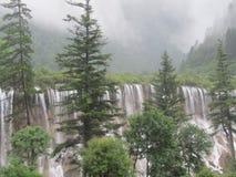 Héritage naturel de cascade-Jiuzhaigou-monde de NuoRiLang photo libre de droits