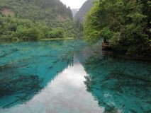 Héritage naturel de Jiuzhaigou-monde photo libre de droits