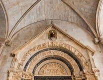 Héritage Trogir de l'UNESCO en Croatie photographie stock libre de droits