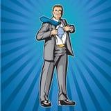 Héroe 2 de la camisa de la apertura ilustración del vector