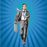 Héroe 2 de la camisa de la apertura stock de ilustración