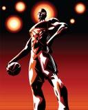 Héroe de la bola de la cesta stock de ilustración