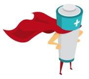 Héroe de la energía/batería recargable libre illustration
