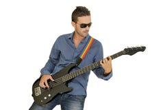 Héroe de la guitarra fotos de archivo