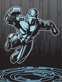 Héroe de la tecnología stock de ilustración