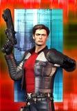 Héroe del espacio de la ciencia ficción Imágenes de archivo libres de regalías