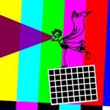 Héroe estupendo óptico divertido de la ilusión TV Imágenes de archivo libres de regalías
