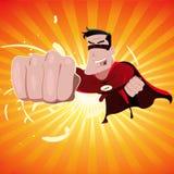 Héroe estupendo de la historieta Imagen de archivo libre de regalías