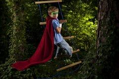 Héroe estupendo joven Fotos de archivo libres de regalías
