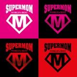 Héroe estupendo Logo Supehero Letters de la mamá Imagen de archivo