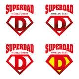 Héroe estupendo Logo Supehero Letters del papá Foto de archivo libre de regalías