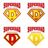 Héroe estupendo Logo Supehero Letters del papá Imagenes de archivo